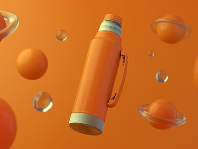 Vacuum Bottle | 3D Product Shot bottle mockup branding advertising design bottle illustration after effects 3ds max product render 3d