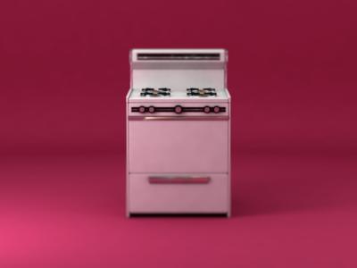 3D Vintage Oven