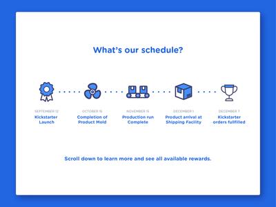 Kickstarter Schedule Image
