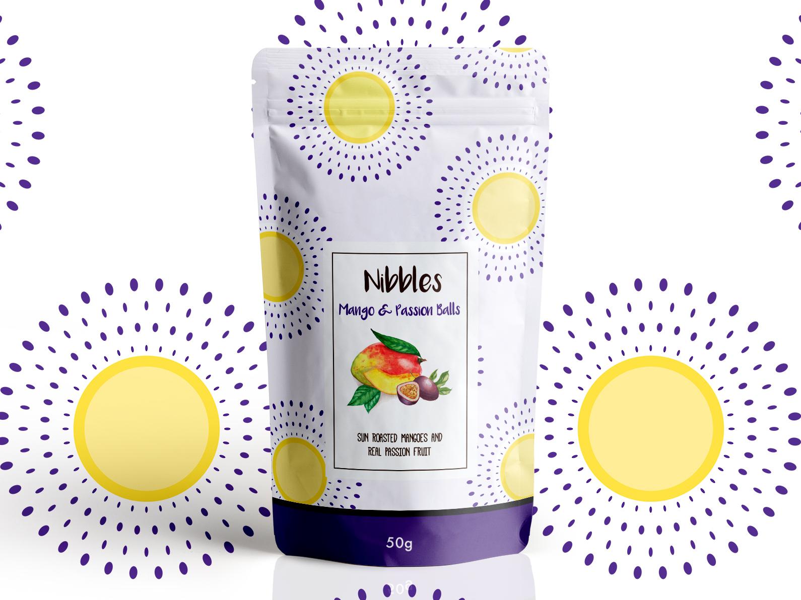 Mango Passion Nibbles mango fruit kenyan pattern packaging design branding design
