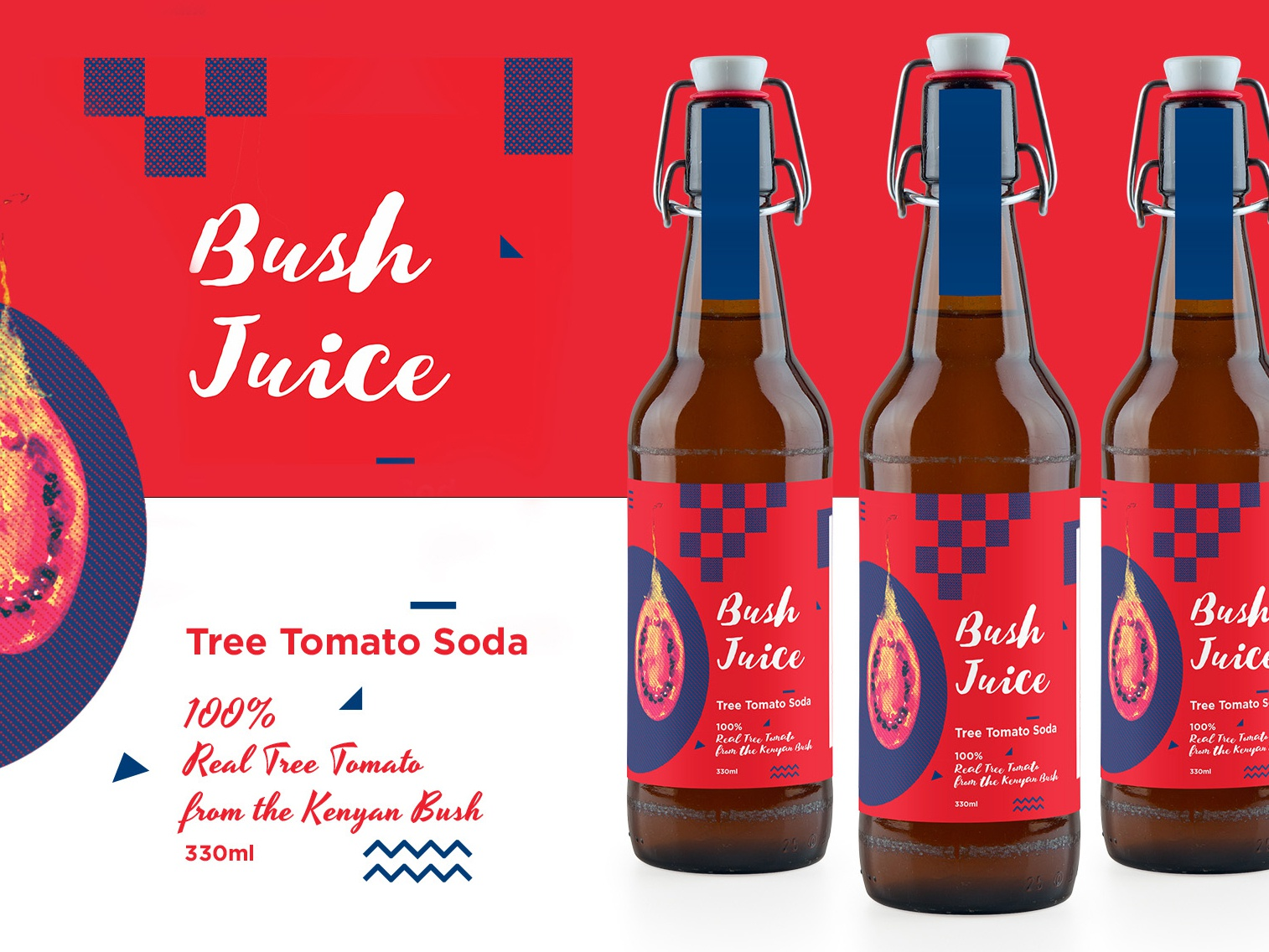 Bush Juice tree tomato soda kenyan packaging design branding design