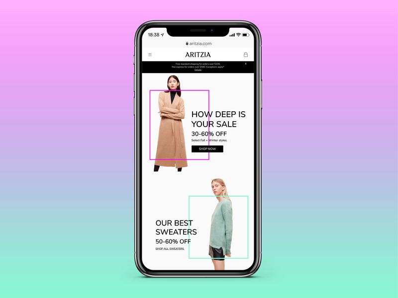Aritzia Homepage graphicdesign webdesign mobile ui uidesign dailyui