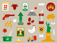 Illustrations for Pasta infographic
