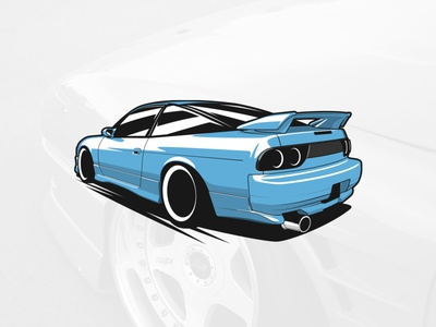 Nissan S13 logotype automobile graphicdesign drawing art car illustration design vector logo