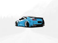Nissan GTR Illustration