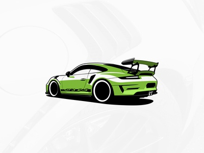 Porche GT3 RS Illustration