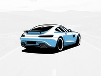 Mercedes-Benz AMG GT Illustration