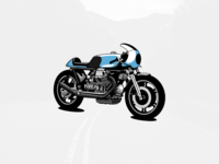 Cafe racer motorbike illustration