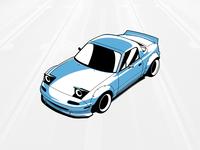 Mazda Miata MX-5 Vector Illustration