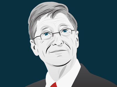 Bill Gates portrait for Business Insider