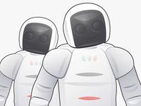 A couple robots