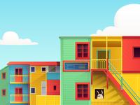 Buenos Aires illustration for Hopper