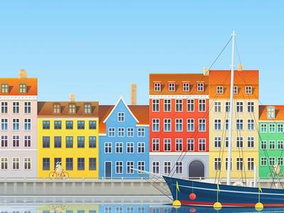 Copenhagen illustration for Hopper