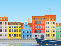 Copenhagen illustration for Hopper