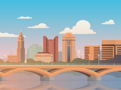 Columbus, Ohio illustration for Hopper