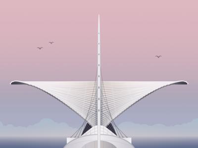 Milwaukee, Wisconsin illustration for Hopper
