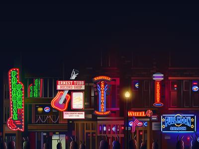 Nashville, Tennessee illustration for Hopper