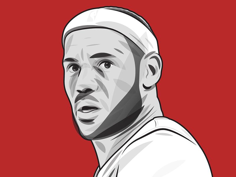 LeBron vector portrait for Business Insider basketball nba editorial illustration illustration illustrator portrait vector king james lebron james