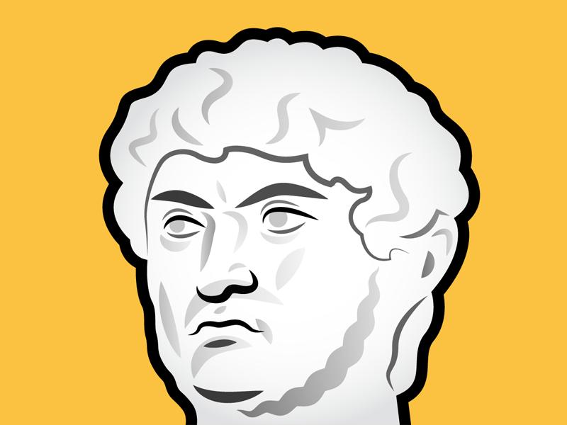 Nero drawing leader face sketch illustrator rome portrait illustration vector nero