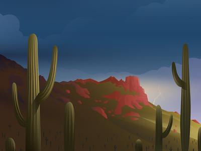 Phoenix, AZ vector illustration