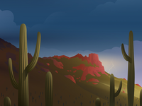Phoenix, AZ vector illustration