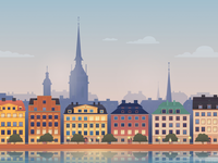 Stockholm vector illustration for Hopper