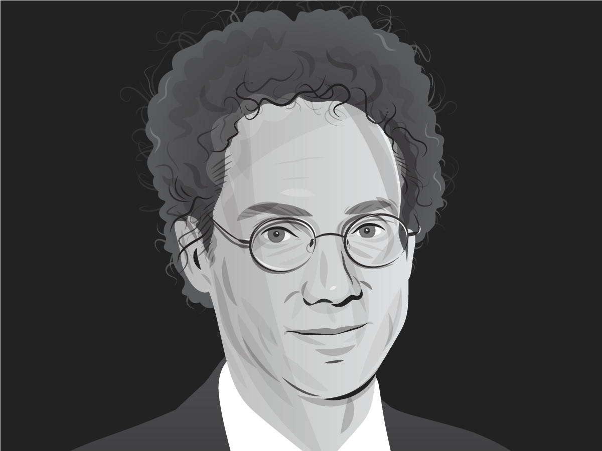 Malcolm Gladwell portrait editorial art portrait drawing illustration illustrator vector