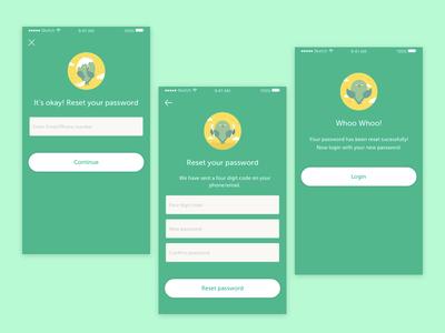 Forget Password Screen app screen reset password user experience design forget password screen interaction design ux ui