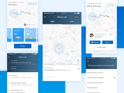 Cab Booking book taxi app screen taxi app ui user experience design cab booking interaction design ux ui