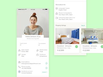 User profile screen user profile screen app screen user profile user experience design profile screen interaction design ux ui