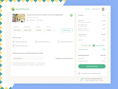 Prepayment page landing page payment booking booking confirmation web design design ux ui confirmation
