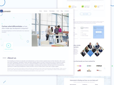 About us page landing page about us page interaction design about us website design ux ui