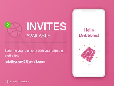 Dribbble Invite design invitation dribble invite invite