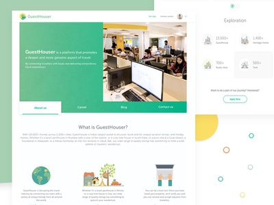 About us page - Guesthouser ui ux website design about us interaction design about us page landing page