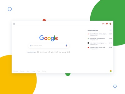 Google Search Redesign ux ui interaction design google search ui google ui design