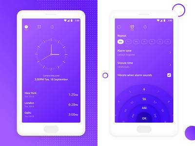 Redesign OnePlus alarm app interaction design app screen app alarm app ux ui