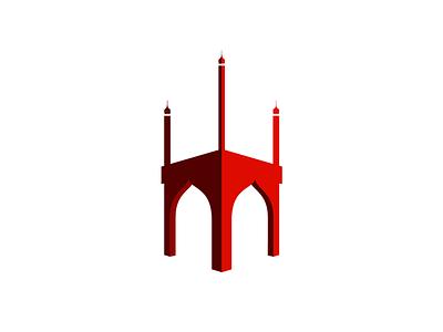 Mahfil Restaurant Logo restaurant logo architecture charminar perspective minaret hyderabad india