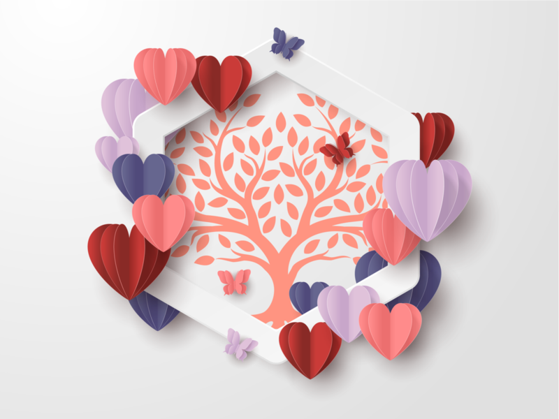 Logo student community for Valentine day love logotype illustrator logo illustration sketch