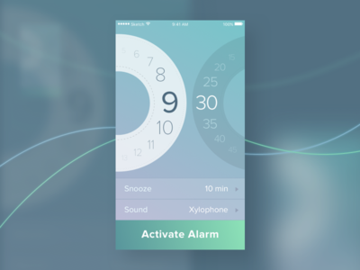 Day 07 — Settings time settings alarm clock ios app daily ui challenge free sketch