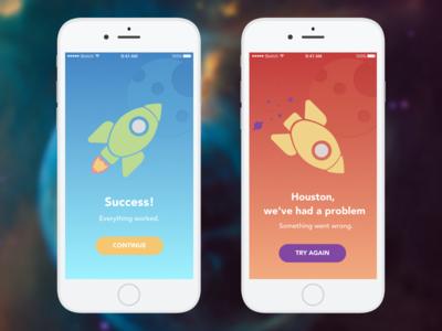 Day 11 — Flash Message rocket flash message app daily ui challenge free sketch