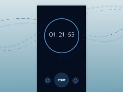Day 14 — Timer timer app daily ui challenge free sketch