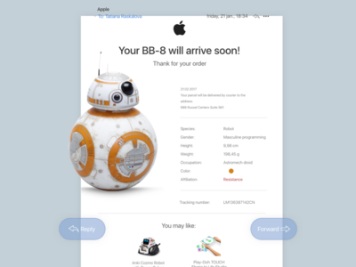 Day 17 — Email Receipt star wars email daily ui challenge free sketch