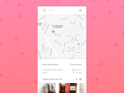 Day 20 — Location Tracker location tracker location geo map app daily ui challenge free sketch