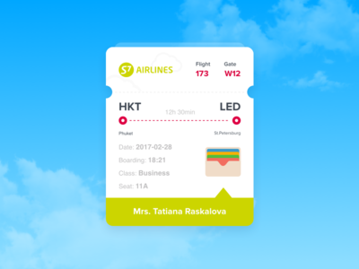 Day 24 — Boarding Pass pass boarding plane daily ui challenge free sketch