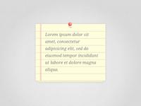 Simple Note Widget