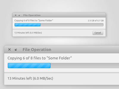 File Operation Window progress bar grey linux vector inkscape file operation window