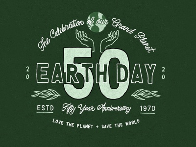Earth Day 2020 logo climate environment branding plants planet green eco earthday earth digital lettering illustrated type design lettering hand rendered type procreate ipad pro illustration hand lettering typography