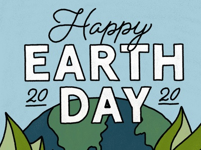 Happy Earth Day texture planet environment plants eco climatechange globe world earthday earth summer illustrator branding digital lettering design procreate ipad pro illustration hand lettering typography
