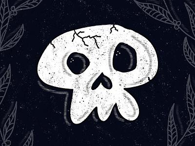 Spooky Skull procreate skulls tombstone graveyard tour of terror sketch fall october death inktober2020 inktober halloween spooktober spooky horror skeleton skull illustration