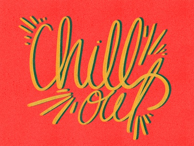 Chill Out illustrated type shirt design summer lettering summer chill out hand rendered type typography hand lettering
